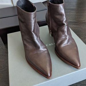 Officine Creative pointed toe bronze bootie